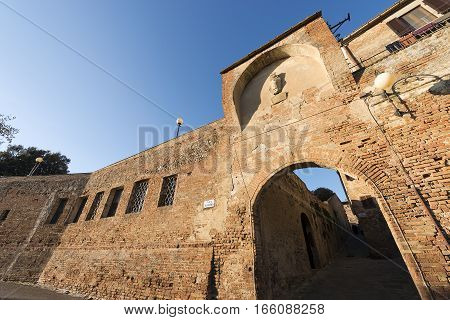 The ancient and medieval town of Certaldo. Florence Tuscany Italy Europe