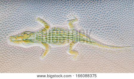 blue crocodile skin texture as a background