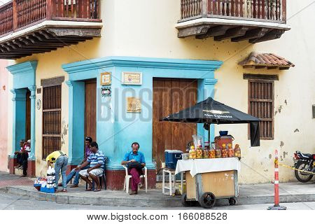 Juice Vendor In Cartagena