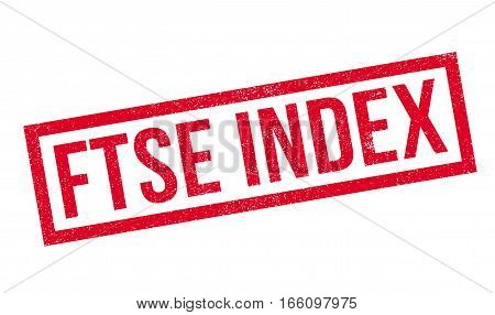 Ftse Index rubber stamp. Grunge design with dust scratches. Effects can be easily removed for a clean, crisp look. Color is easily changed.