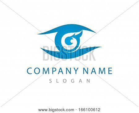 modern optometrist blue logo on white background