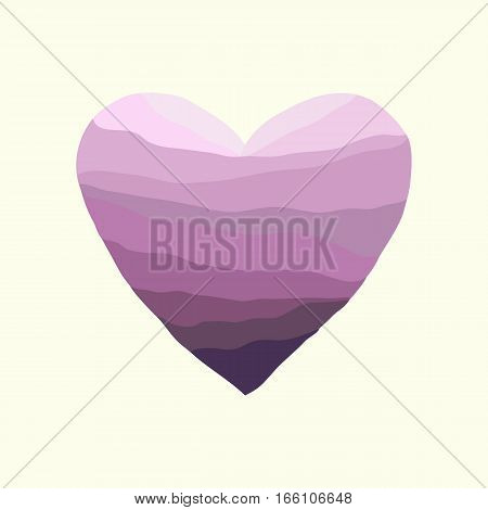 Vector pink frame. Valentine Day heart. Holiday template. Abstract love background
