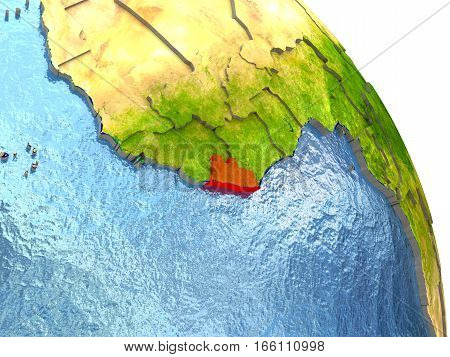 Liberia On Earth In Red