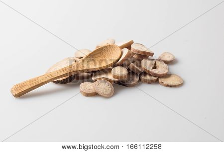 Chinese Herbal Medicine on the table,traditional chinese culture.