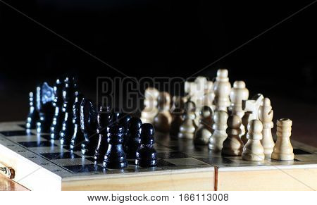 success concept in business - composition of the chess pieces.the photo has a empty space for your text