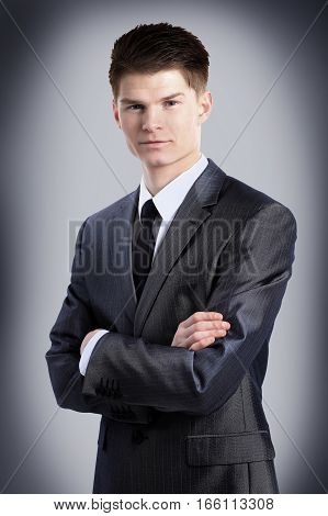portrait of a newcomer businessman in a business suit