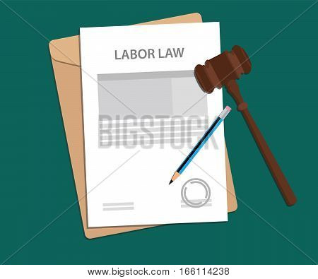 legal concept of labor law illustration vector