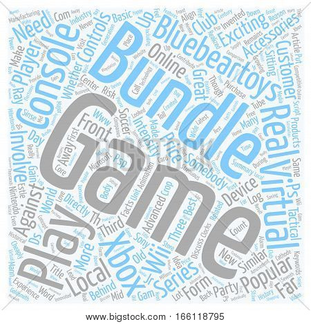 How to Get a Game Bundle Cheaply text background wordcloud concept