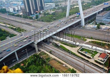 City Viaduct Bridge Road Landscape.