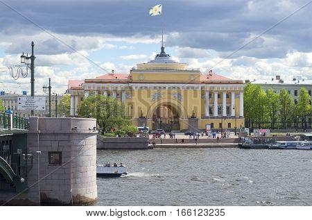 SAINT PETERSBURG, RUSSIA - MAY 24, 2015: Cloud may day in St. Petersburg