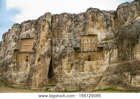 Tombs of Achaemenid kings in Naqsh-e Rustam Persepolis ruin Iran