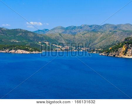 View of marina in the old town of Dubrovnik, Croatia. Dubrovnik is a UNESCO World Heritage site