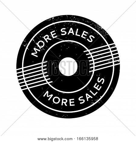 More Sales rubber stamp. Grunge design with dust scratches. Effects can be easily removed for a clean, crisp look. Color is easily changed.