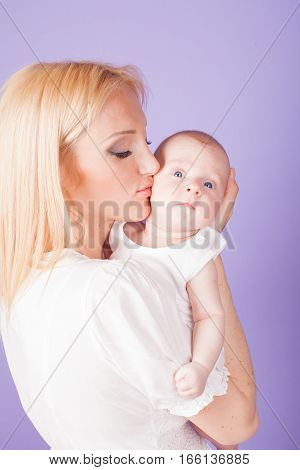 mom and son love happiness baby tender