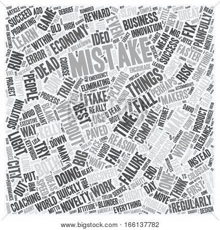 How To Make Mistakes text background wordcloud concept