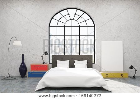 Bedroom With Arc Shaped Window