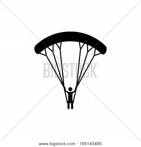 Skydiving extreme sport icon vector illustration graphic design