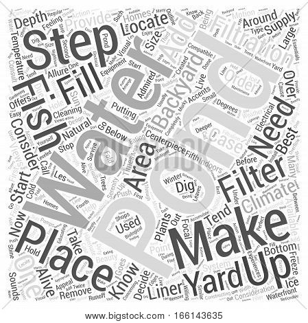 How To Make Your Own Backyard Fish Pond Word Cloud Concept
