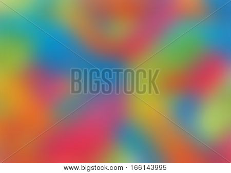 blurred background with mix of blue, red, green and orange colors.