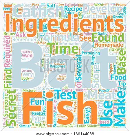 How to Make Your Own Homemade Catfish Bait text background wordcloud concept
