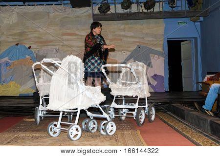 Excursion In Drama Theatre In Kirov City