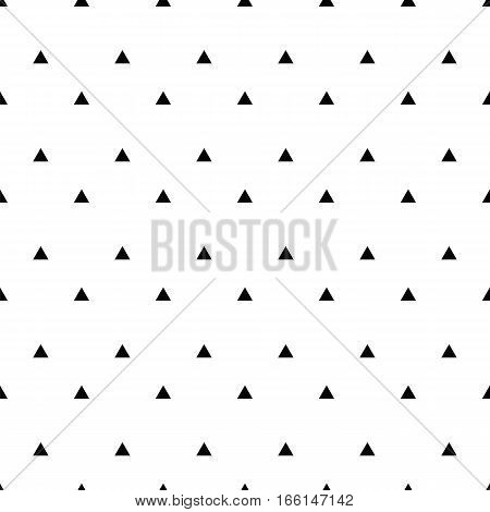 Geometric Line Monochrome Abstract Seamless Pattern With Triangle