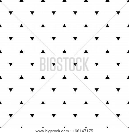 Geometric line monochrome abstract seamless pattern with triangle. Wrapping paper. Scrapbook paper. Tiling. Vector illustration. Background. Graphic texture for design wallpaper.