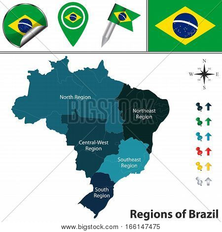 Map Of Brazil With Regions