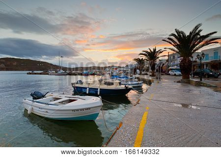 LIVADI, GREECE - JANUARY 12, 2017: Serifos island in Cyclades island group in Aegean sea, Greece on January 12, 2017.