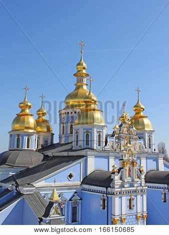 St. Michael's Golden-Domed Monastery - famous church complex in Kyiv, Ukraine
