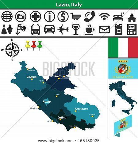 Lazio With Regions, Italy