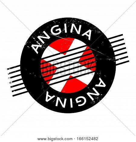 Angina rubber stamp. Grunge design with dust scratches. Effects can be easily removed for a clean, crisp look. Color is easily changed.