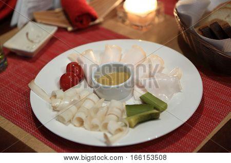 Lard On Plate