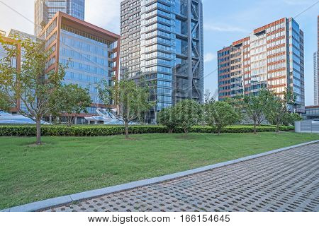 view of city square at daytime in Shanghai, China.