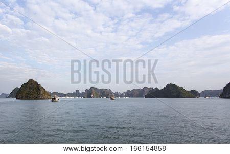 Beautiful Scenery At Halong Bay