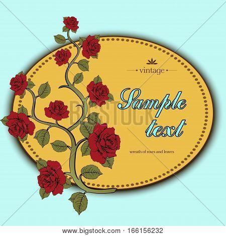 Flower Card, Flower Wreath Of Roses, Cover, Flower Frame, Banner, Flower Border, Flower Frame For Ph