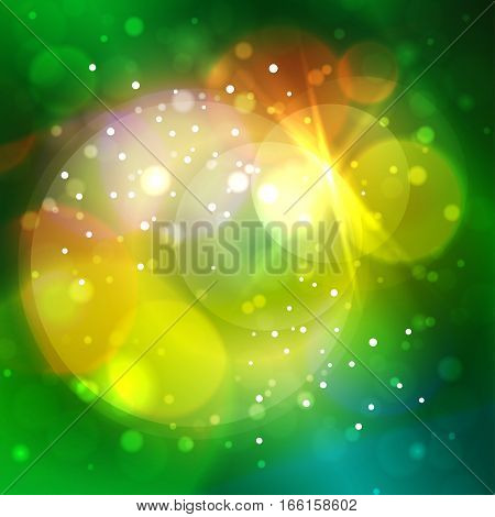Colorful Bright Abstract Bokeh Background, Defocused Lights