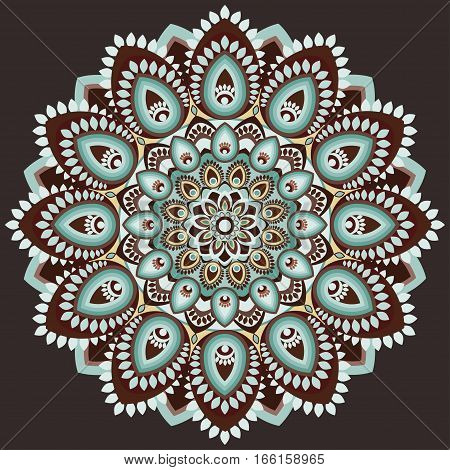 Mandala Multicolored. East, Ethnic Design, Oriental Pattern, Round Ornament. For Use In Fabric , Pri