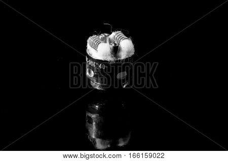 vape coil kanthal atomizer black isolated for e-cig