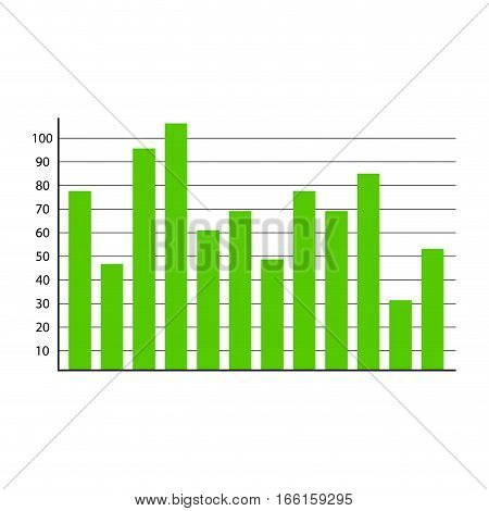 Template graphic element. Visualization information chart data vector illustration