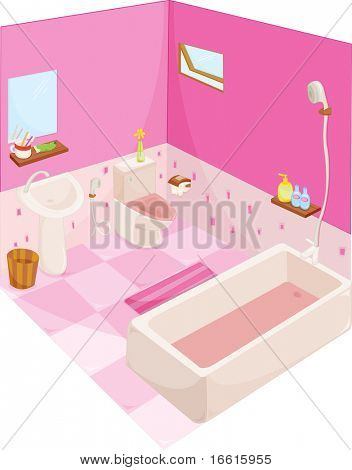 Illustration of a well appointed bathroom