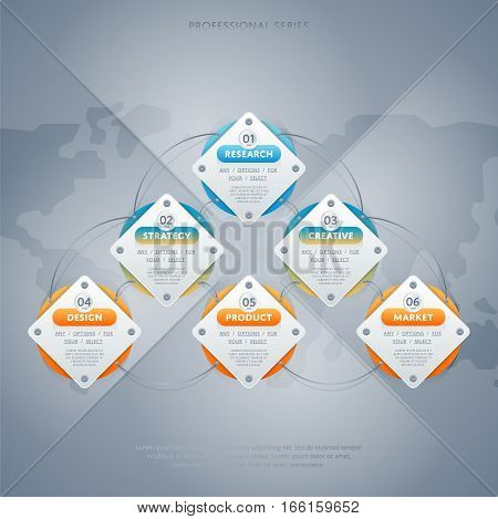 Various business infographic elements. Creative elements. Vector infographic elements. Creative business concept of stage, parts, steps. Business infographic elements. Infographics template. Infographic elements concept. Time line stage.