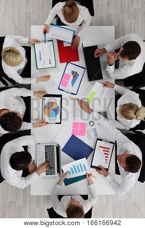 Business Team Work With Reports
