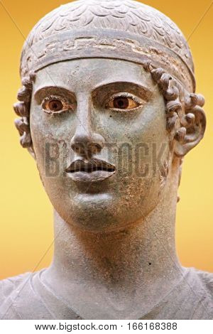 The Charioteer of Delphi in Greece, South Europe