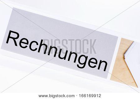 File folder bills (Rechnungen) in German language