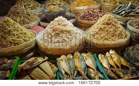 salted fishes and anchovies photo taken in Jakarta Indonesia java