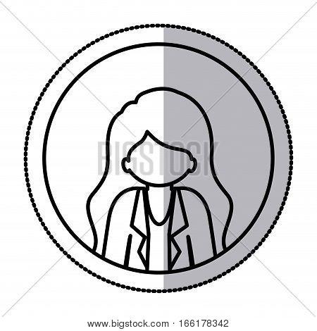 Woman profile pictogram icon vector illustration graphic design