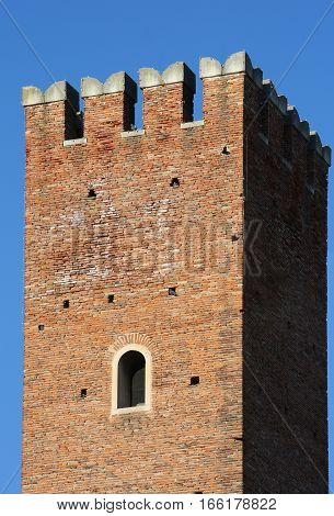 Very Ancient Tower And Blue Sky
