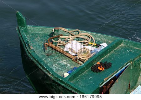 on the shore of the Sea of Galilee is a fishing boat