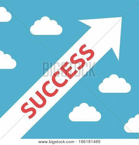 Diagonal Arrow, Success Concept